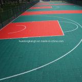 Suelo plástico suspendido de los deportes que se enclavija, baloncesto, voleibol, suelo del tenis