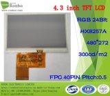 "4.3 ""480X272 RGB-TFT-LCD Touch Screen, Hx8257A01-C, 40-Pin für POS, Türklingel, Medical"