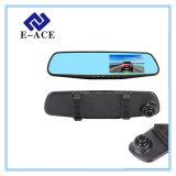 Автомобиль DVR зеркала камеры объектива видеозаписывающего устройства кулачка черточки автоматический двойной