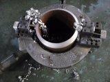 溶接のための空気の鋼管の斜角が付く切断そして溝を作る機械