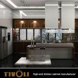 Tivoli Qualitäts-übersteigt Luxuxküche-Entwurfs-Marmor glatte Küche-Schränke mit Insel Tivo-0039V