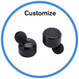 소형 두 배 귀 무선 Bluetooth는 헤드폰 스포츠 이어폰을 한쌍으로 한다