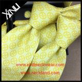 Conjunto impreso de seda hecho a mano del lazo de la mancuerna del regalo del nudo perfecto
