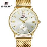 Belbi Geschäfts-wasserdichter Quarz-Stahlfrauen-Uhr