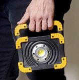 Luz recarregável da tocha do diodo emissor de luz da inundação duradouro ao ar livre do diodo emissor de luz