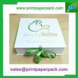Caja de embalaje de empaquetado combinada del rectángulo del rectángulo de regalo del bebé de encargo de la cinta de joyería del rectángulo de regalo de la cartulina cosmética del rectángulo