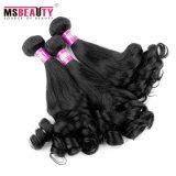 Braziliaanse Haar van de Mink van de Kleur van zwarten het Natuurlijke Maagdelijke Echte