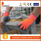 Ddsafety 2017 orange graue Latex-Neonnylonhandschuhe mit der Windung beendet