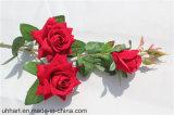 3 bastoni del fiore artificiale della Rosa dei vestiti del velluto delle teste per le cerimonie nuziali