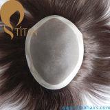 Brown-Farben-niedriger Haar-Systemmonotoupee für Männer