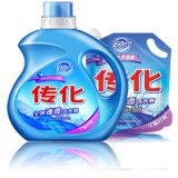 O detergente líquido da lavanderia do concentrado, pulveriza o detergente
