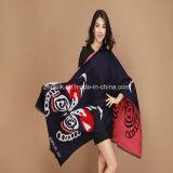 100% lenço de malha checada a quente de inverno de mulheres de acrílico