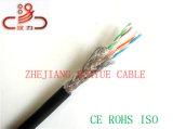 Câble d'acoustique de connecteur de câble de transmission de câble de caractéristiques de câble de Sftpcat6/Computer
