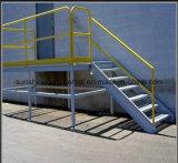 Escalera galvanizada sumergida caliente del acero de la plataforma
