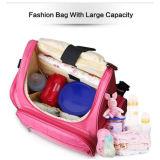 旅行おむつのバックパック袋のPad&のベビーカーストラップの変更を用いる防水ミイラの赤ん坊のおむつ袋のバックパック
