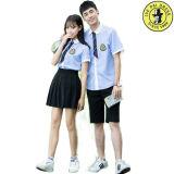 学生服の青いワイシャツの/Schoolの均一ワイシャツデザイン