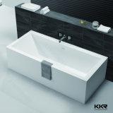 Vasca da bagno di pietra indipendente di superficie solida della resina della vasca di bagno di Kingkonree