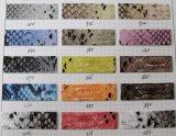 高品質の多彩なヘビPU袋のハンドバッグの革(K126)