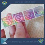 Crear la etiqueta engomada verde del holograma para requisitos particulares del laser de la seguridad