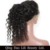 360 париков шнурка прифронтовых глубоко развевают бразильские человеческие волосы 100% волос Remy