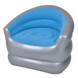 مستديرة [أو] شكل احتشد وقت فراغ [بفك] أريكة قابل للنفخ وحيد