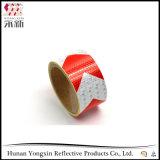 Band van de Sticker van de Honingraat van de Pijl van pvc van de douane de Rode Gele Weerspiegelende