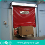 PVC 직물 셔터 차고 문 높은 쪽으로 고속 빠른 급속한 Aaction 머리 위 회전 또는 롤러를 고쳐 산업 자동적인 각자