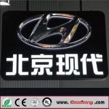 Teken van het Embleem van het acryl het Verchroomde LEIDENE Backlit Verlichte Merk van de Auto