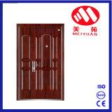 Porte en acier de fer d'entrée à la maison pour l'exportation