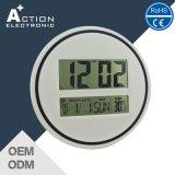 Reloj de pared del LCD Digital con el calendario y radio controlados opcional