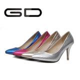 Золото и верхушка и пятка серебра цвет для ботинок насосов высокой пятки