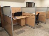 開きなさいオフィス高いガラスワークステーション区分(FOH-WS42-3)を