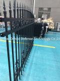 2017 nouveaux produits ont personnalisé la frontière de sécurité en acier galvanisée noire de jardin