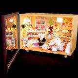 Дом куклы DIY с светом ягнится подарок игрушек взрослого