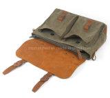 Homens de saco unisex assegurados qualidade do ombro do mensageiro do homem/portátil da bolsa do vintage da lona para o saco do dia-a-dia dos adultos