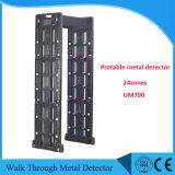Портативный детектор металла Um700 24zones, детектор металлических дверей