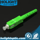 Vert de fibre optique de Sc RPA 3.0mm de connecteur