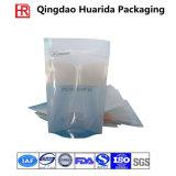 Sacchetto laminato plastica di imballaggio per alimenti della chiusura lampo