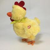 De elektrische Gele Grappige Pluche van de Kip legt het Pluizige Stuk speelgoed RoHS van Eieren