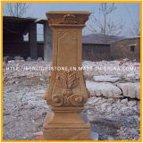 صفراء رخاميّة حجارة يد ينحت عمود رومانيّ