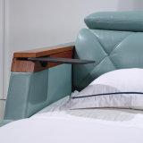 寝室の使用(FB8151)のための緑色の革ベッド