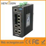 10 portas controlaram o interruptor de rede industrial da fibra do SFP do Ethernet
