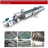 (Производственная линия двойных бумажных курсов) стежка седловины Flexography бумаги крена высокоскоростного