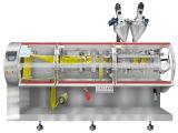 Máquina de rellenar del polvo líquido de la Dos-Pista (tipo horizontal)