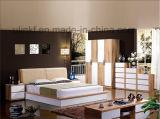 [نيوكلسّيك] أسلوب غرفة نوم أثاث لازم تصميم خشبيّة سرير إطار سرير ([هإكس-لس016])