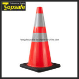 cone do PVC de 70cm com base preta (S-1238W)