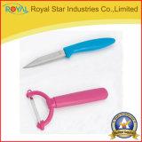 フルーツ5部分のが付いている卸し売りナイフシリーズプラスチックホールダー包丁のか皮をむくか、またははさみのナイフ