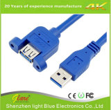 Câble d'extension USB Super Speed ​​Blue Round 3.0