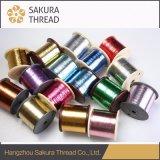 多色刷りポリエステル刺繍の金属ヤーン
