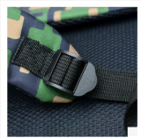 Nuevo bolso de hombro doble 2017 con el morral del ordenador del recorrido del ocio de la lona del camuflaje del estudiante de la capacidad grande